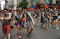 NYC: Desfile del orgullo de 2012 homosexuales Fotografía de archivo