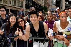 NYC: Desfile del orgullo de 2012 homosexuales Imagen de archivo