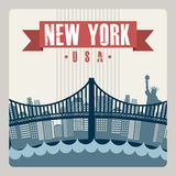 NYC design Royalty Free Stock Image