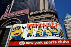 NYC: Despicable Movie Times Sq Billboard Stock Photography