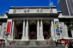 NYC: Det New York offentliga biblioteket Arkivfoton