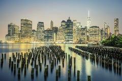 NYC di notte, U.S.A. Immagine Stock Libera da Diritti
