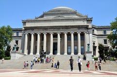 NYC: Die Bibliothek der Universität von Columbia lizenzfreie stockfotos