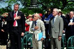 NYC: Dignatarios en las ceremonias de Memorial Day Imagen de archivo