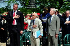 NYC: Dignitaries at Memorial Day Ceremonies Stock Image