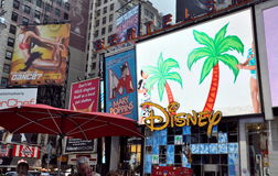 NYC: Disney Billboards in Times Square Royalty Free Stock Photo