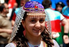 NYC: Donna alla parata turca di giorno Immagini Stock Libere da Diritti