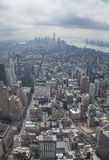 NYC Downtown. New York City, New York State, view from Empire State building Stock Photography