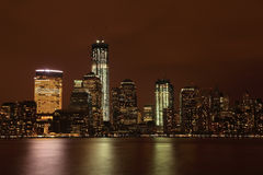 NYC Downtown at night. Stock Images