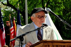 NYC: Dr. George Schall at Memorial Day Ceremonies Royalty Free Stock Photography