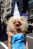 NYC: Drag Queen at Gay Pride Parade Royalty Free Stock Photos