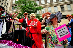 NYC: Drag Queens at Gay Pride Parade Stock Photography