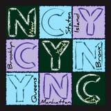 NYC druku projekta okręg 2 Obraz Royalty Free