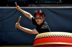 NYC: Drummer at Taiwan Festival Stock Image
