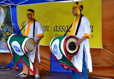 NYC: Drummers at Burmese Water Festival Stock Photo