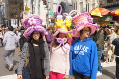 The 2015 NYC Easter Parade 92. The Easter parade is an American cultural event consisting of a festive strolling procession on Easter Sunday. Typically, it is a stock photos