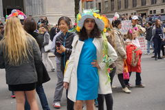 The 2015 NYC Easter Parade 86. The Easter parade is an American cultural event consisting of a festive strolling procession on Easter Sunday. Typically, it is a stock photo