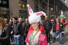 The 2015 NYC Easter Parade 81. The Easter parade is an American cultural event consisting of a festive strolling procession on Easter Sunday. Typically, it is a royalty free stock photos