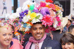 The 2015 NYC Easter Parade & Bonnet Festival 13. The Easter parade is an American cultural event consisting of a festive strolling procession on Easter Sunday stock photography