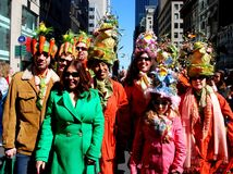 NYC: Easter Parade Celebrants Royalty Free Stock Image