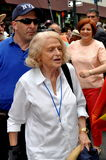 NYC: Edie Windsor and Christine Quinn at 2013 Gay Pride Parade. Grand Marshall Edie Windsor, the woman who sued the U.S. Government to nullify DOMA (The Defense Stock Images