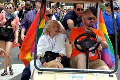 NYC; Edie Windsor at 2013 Gay Pride Parade Royalty Free Stock Images