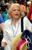 NYC:  Edie Windsor at 2013 Gay Pride Parade. Edie Windsor, the 84 year old woman who sued the U.S. Government to nullify the Defense of Marriage Act (DOMA) Royalty Free Stock Photos
