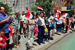 NYC: Egyptian Demonstrators at the United Nations Stock Photography