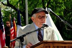 NYC: El Dr. George Schall en las ceremonias de Memorial Day Fotografía de archivo libre de regalías