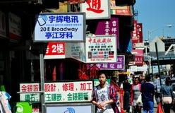 NYC: El negocio firma adentro Chinatown Fotos de archivo libres de regalías