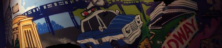 NYC en una pared Imagen de archivo libre de regalías