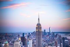 NYC entonó horizonte foto de archivo libre de regalías