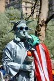 NYC: Estátua do Mime da liberdade Fotografia de Stock