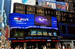 NYC: För Amerika ABC-tv för bra morgon studio Times Square Royaltyfri Fotografi