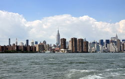 NYC: Famed NYC Skyline from East River Royalty Free Stock Images