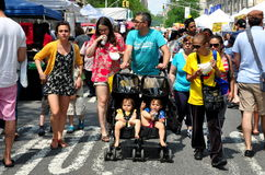 NYC: Families at Broadway Street Festival Stock Photos
