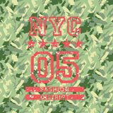 NYC fashion army style. Artwork for woman wear, camouflage seamless vector pattern background royalty free illustration