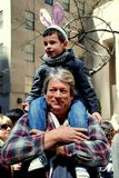 NYC: Father and Son at Easter Parade Stock Image