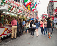 NYC Feast of San Gennaro stock photography