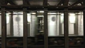 New York City Subway MTA subway car stock footage