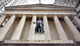 NYC Federal Hall. The historic landmark, The New York City Federal Hall Royalty Free Stock Photo