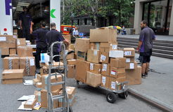 NYC: FEDEX Workers on Park Avenue Royalty Free Stock Photo