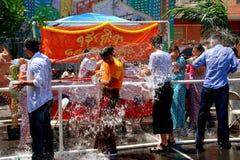 NYC: Festival Burmese del agua Fotografía de archivo libre de regalías