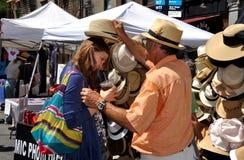 NYC : Festival de rue d'avenue de Columbus Images libres de droits