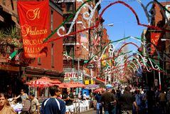 NYC: Festival de San Gennaro en poca Italia Imágenes de archivo libres de regalías