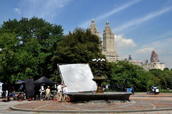 NYC: Filming Commercial in Central Park Royalty Free Stock Photo
