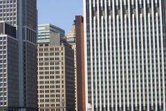NYC financial district. Financial institutions in lower manhatten Stock Photo
