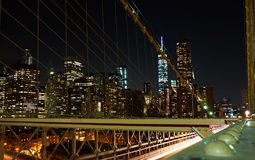 Nyc financier de secteur la nuit Photographie stock