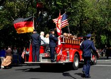 NYC: Firetruck at Von Steuben Day Parade Royalty Free Stock Photo