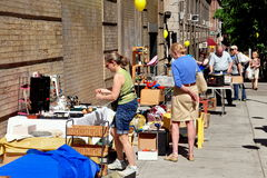 NYC:  Flea Market Sidewalk Tag Sale Stock Photo